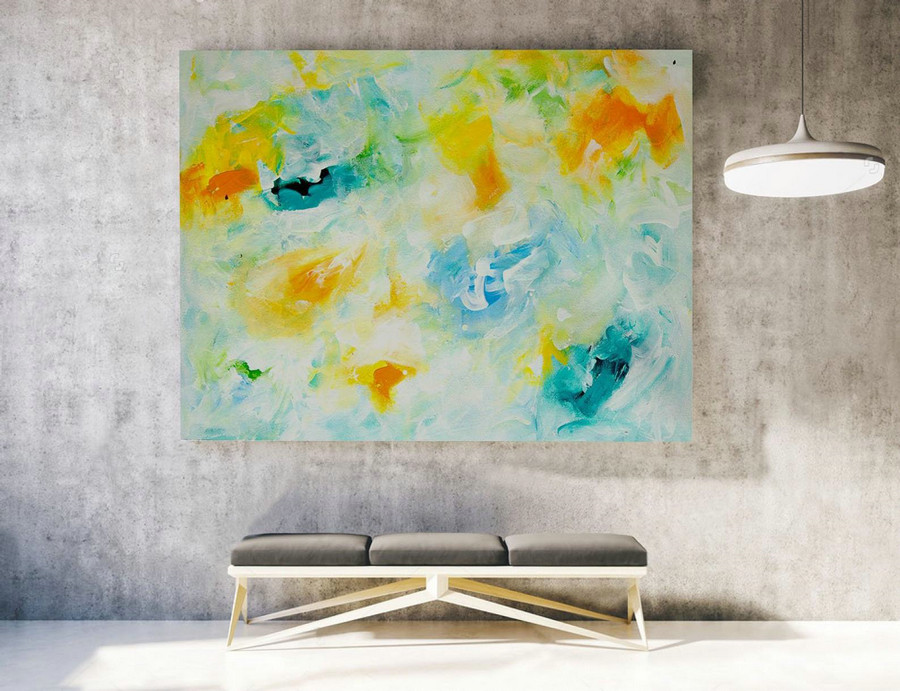 Large Canvas Art - Abstract Painting on Canvas, Contemporary Wall Art, Original Oversize Painting LAS029