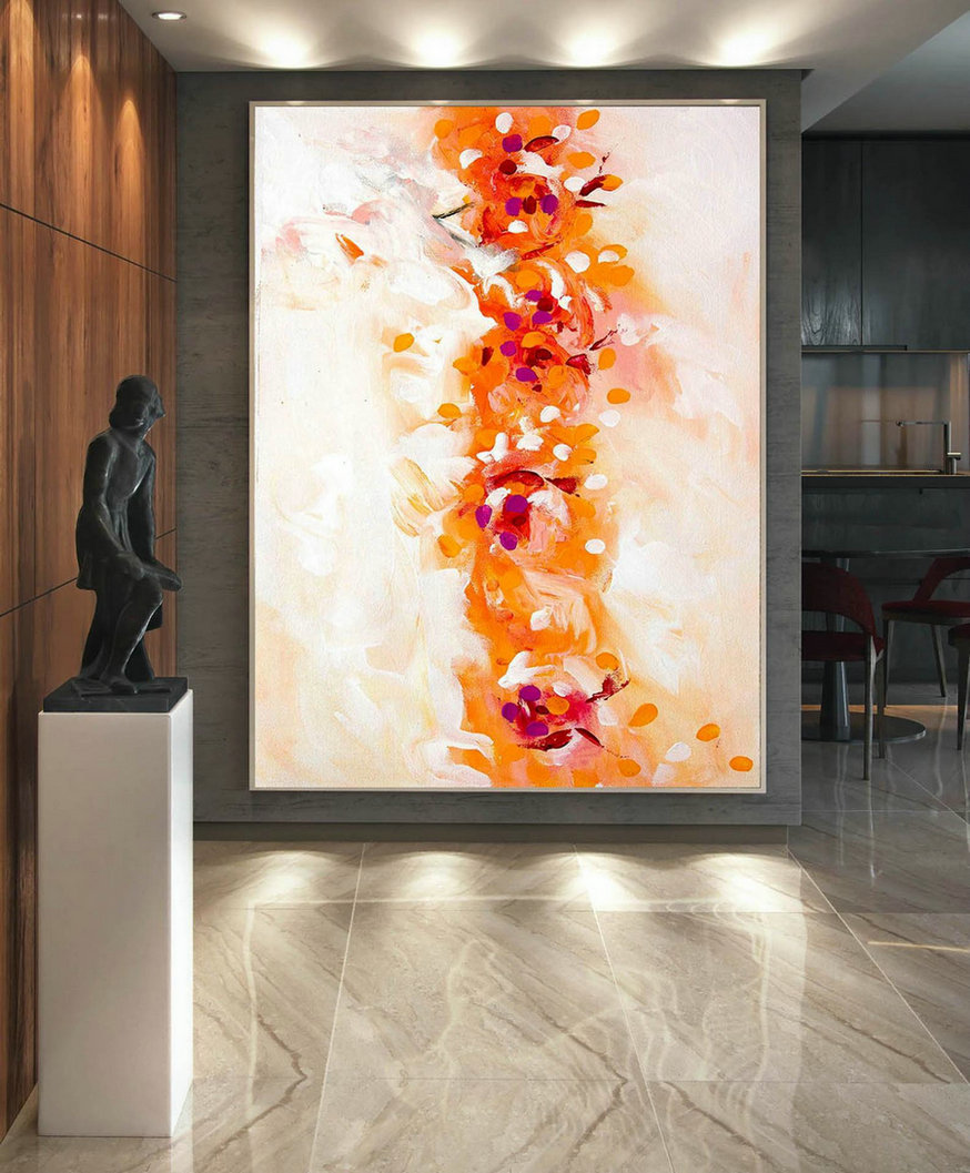 Extra Large Wall art - Abstract Painting on Canvas, Contemporary Art, Original Oversize Painting LaS033