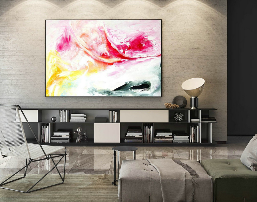 Extra Large Wall art - Abstract Painting on Canvas, Contemporary Art, Original Oversize Painting LaS037