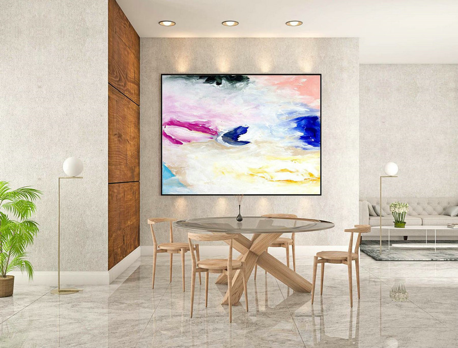 Abstract Painting on Canvas - Extra Large Wall Art, Contemporary Art, Original Oversize Painting LaS045