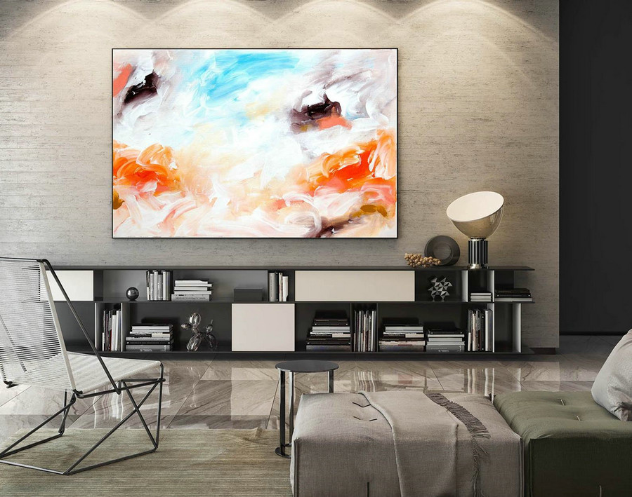 Abstract Canvas Art - Large Painting on Canvas, Contemporary Wall Art, Original Oversize Painting LaS047