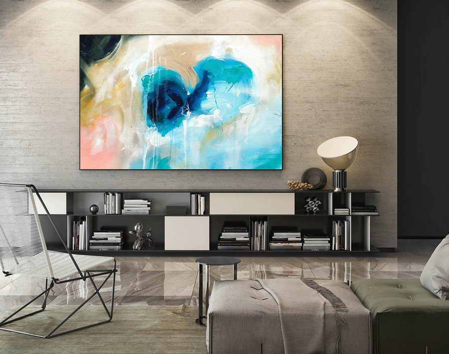 Abstract Canvas Art - Large Painting on Canvas, Contemporary Wall Art, Original Oversize Painting LaS096