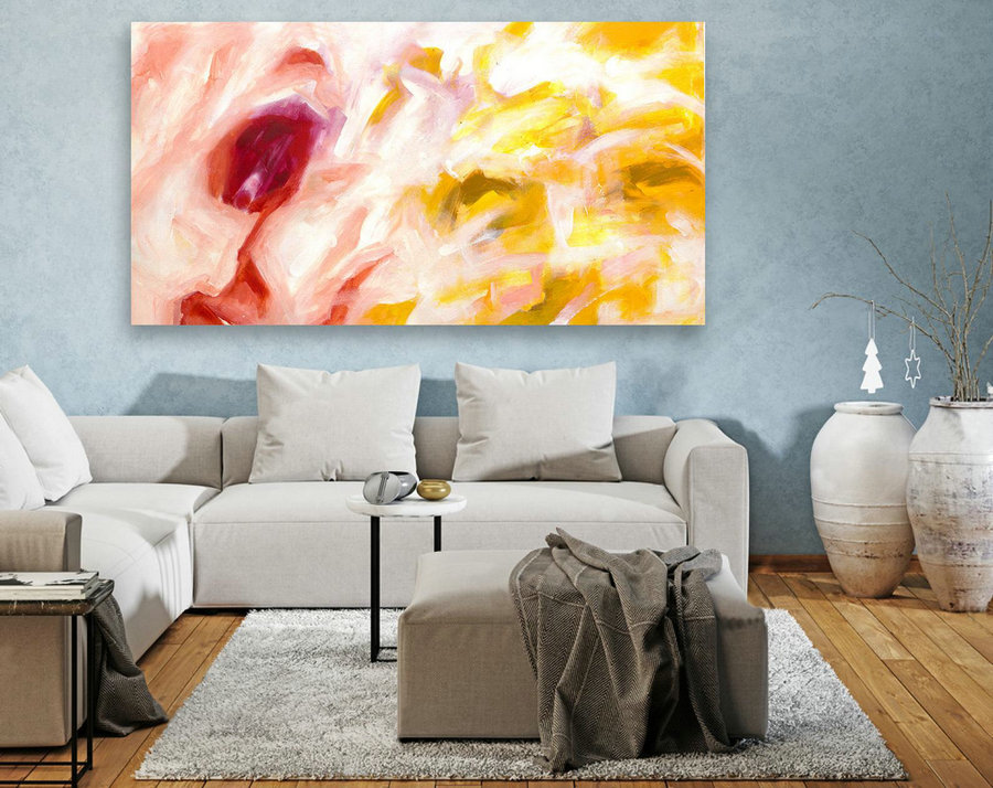 Large Canvas Art - Abstract Painting on Canvas, Contemporary Wall Art, Original Oversize Painting LAS100