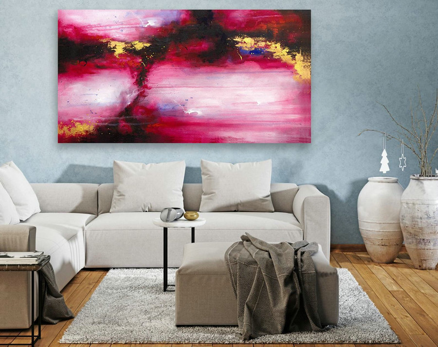 Contemporary Wall Art - Abstract Painting on Canvas, Original Oversize Painting, Extra Large Wall Art LAS106
