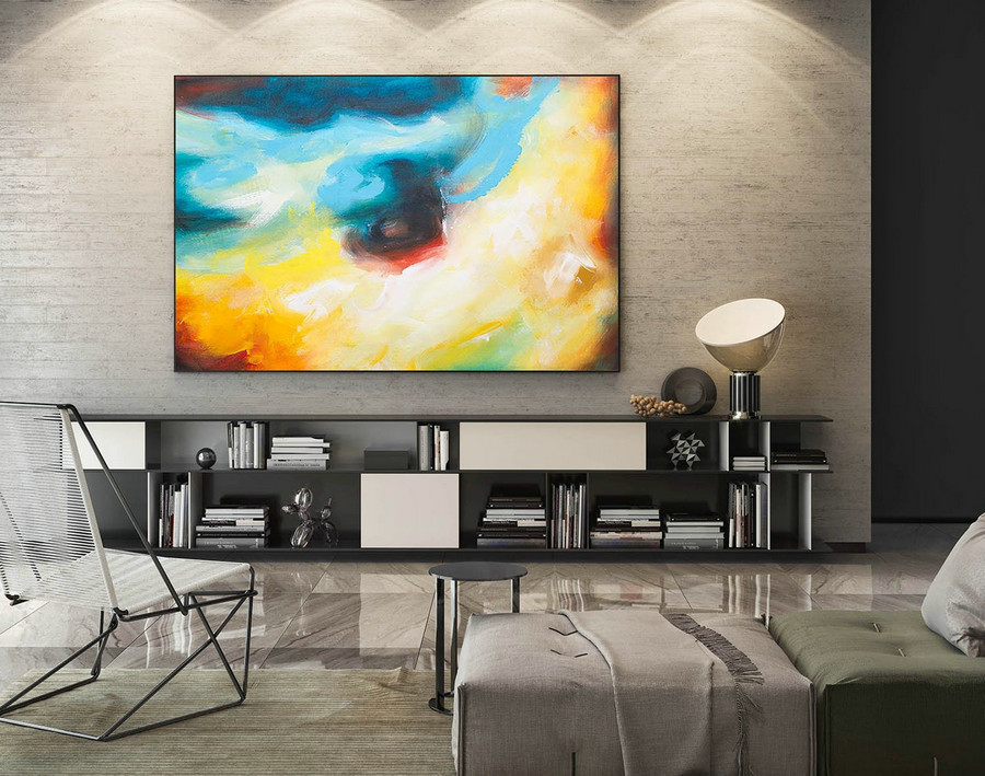 Abstract Painting on Canvas - Extra Large Wall Art, Contemporary Art, Original Oversize Painting LaS125