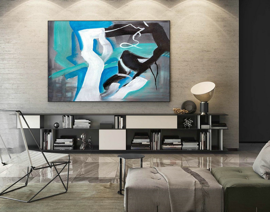Abstract Canvas Art - Large Painting on Canvas, Contemporary Wall Art, Original Oversize Painting LaS135