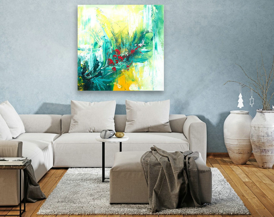 Contemporary Wall Art - Abstract Painting on Canvas, Original Oversize Painting, Extra Large Wall Art LAS129