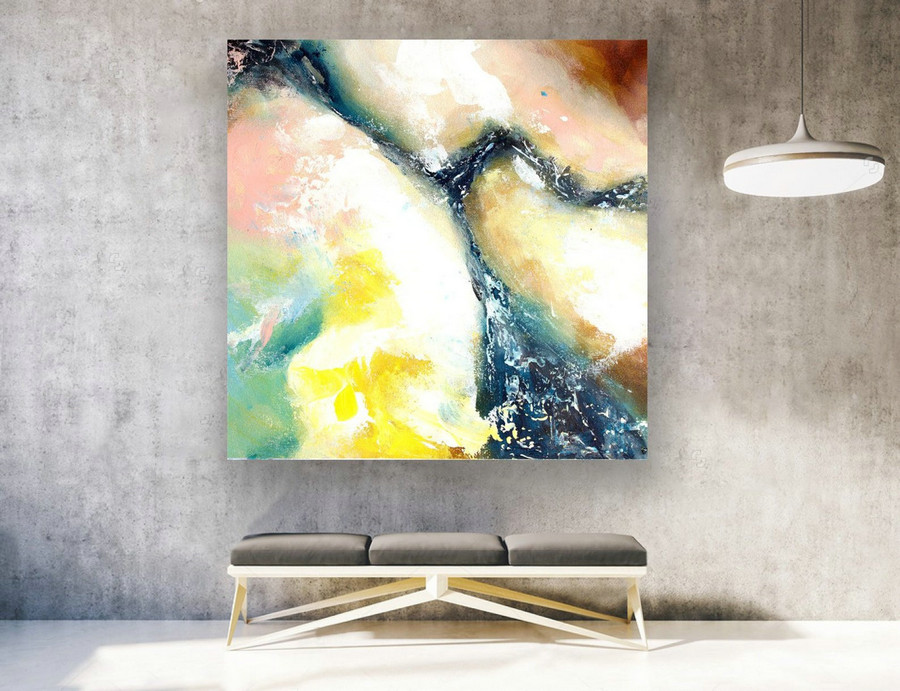 Abstract Canvas Art - Large Painting on Canvas, Contemporary Wall Art, Original Oversize Painting LAS134