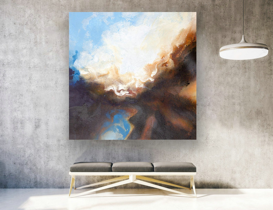 Abstract Painting on Canvas - Extra Large Wall Art, Contemporary Art, Original Oversize Painting LAS139