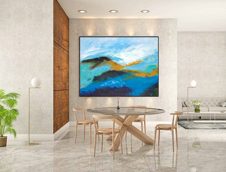 Abstract Canvas Art - Large Painting on Canvas, Contemporary Wall Art, Original Oversize Painting LaS150