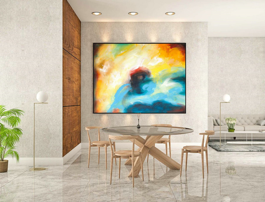 Abstract Canvas Art - Large Painting on Canvas, Contemporary Wall Art, Original Oversize Painting LaS154