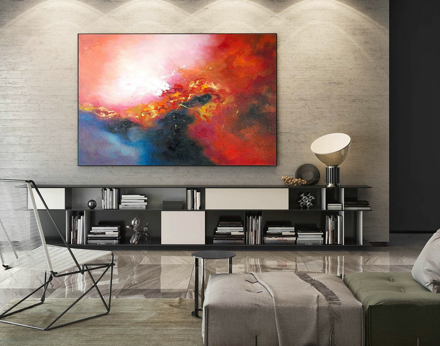 Abstract Painting on Canvas - Extra Large Wall Art, Contemporary Art, Original Oversize Painting LaS153