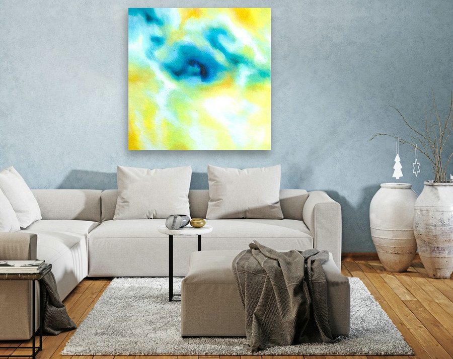 Abstract Painting on Canvas - Extra Large Wall Art, Contemporary Art, Original Oversize Painting LAS152