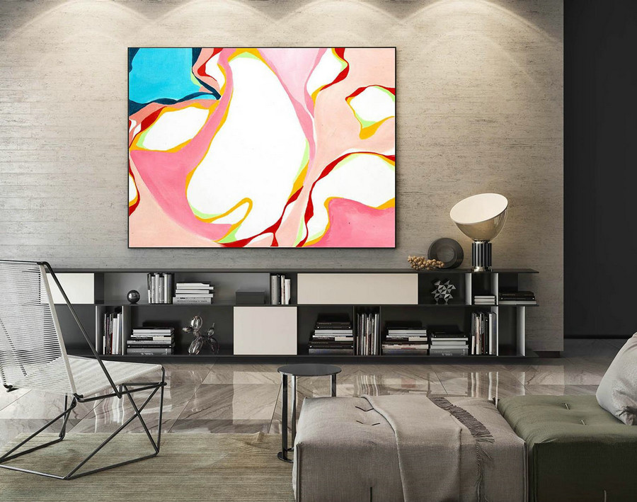 Abstract Painting on Canvas - Extra Large Wall Art, Contemporary Art, Original Oversize Painting LaS176