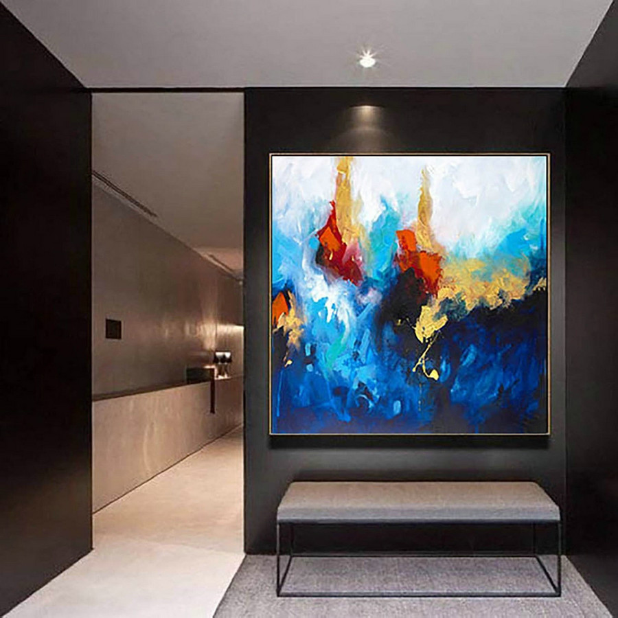 Extra Large Wall art - Abstract Painting on Canvas, Contemporary Art, Original Oversize Painting LaS190