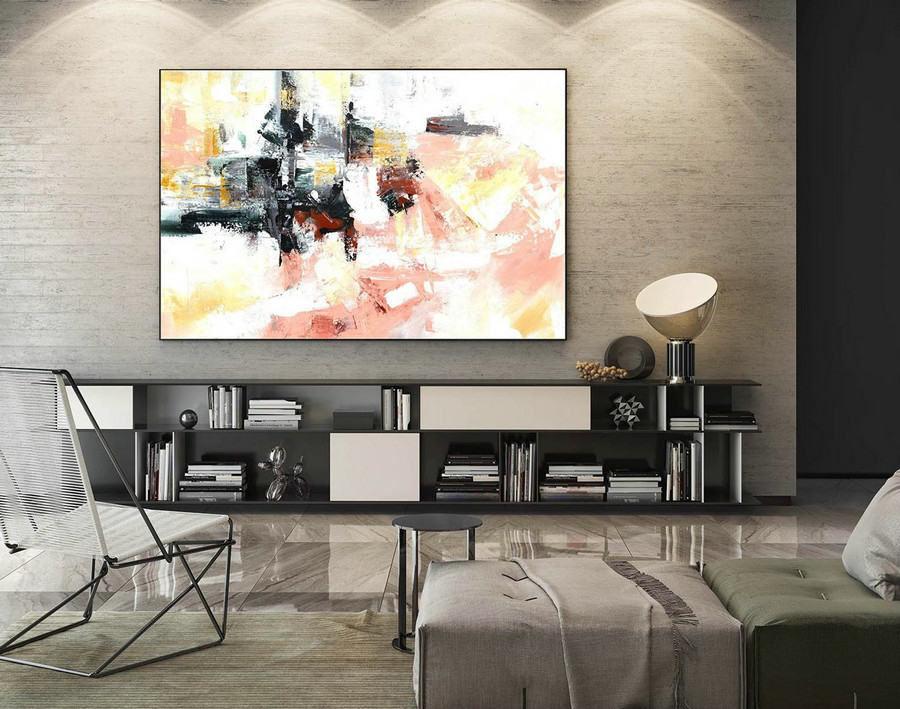 Abstract Painting on Canvas - Extra Large Wall Art, Contemporary Art, Original Oversize Painting LaS192