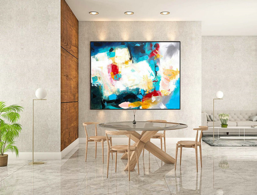 Large Abstract Painting on Canvas,Large Painting on Canvas,Bright painting art,Canvas large,Above bed decor,Acrylic textured art LaS201