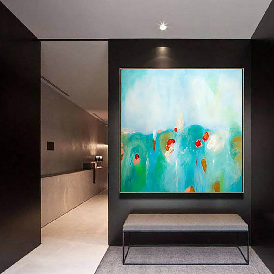 Contemporary Wall Art - Abstract Painting on Canvas, Original Oversize Painting, Extra Large Wall Art LaS236