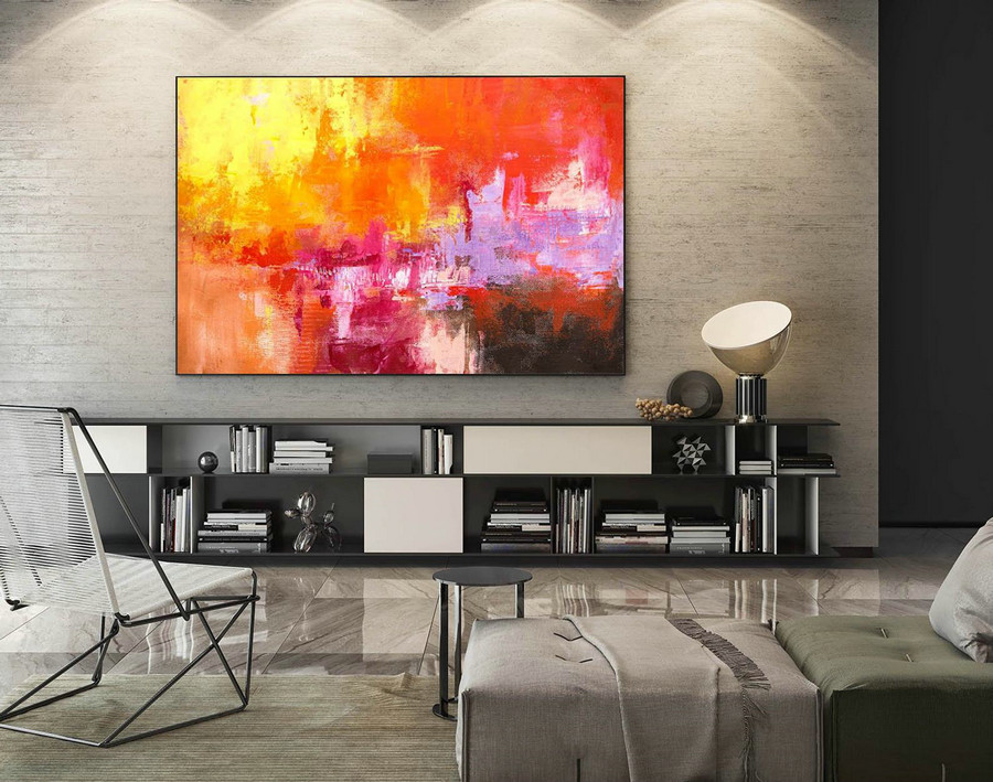 Abstract Painting on Canvas - Extra Large Wall Art, Contemporary Art, Original Oversize Painting LaS242