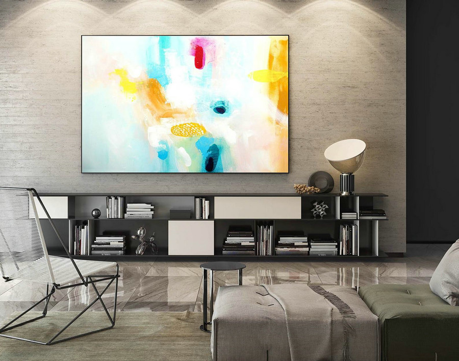Abstract Painting on Canvas - Extra Large Wall Art, Contemporary Art, Original Oversize Painting LaS276