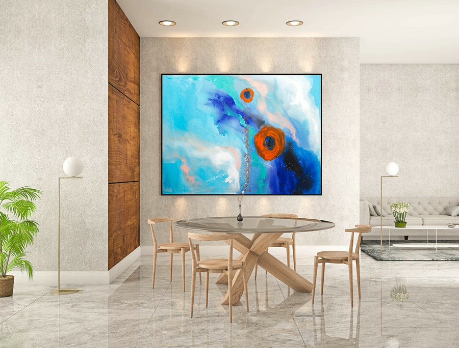 Abstract Painting on Canvas - Extra Large Wall Art, Contemporary Art, Original Oversize Painting LaS275