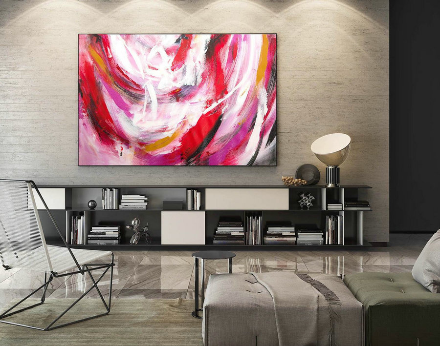 Abstract Canvas Art - Large Painting on Canvas, Contemporary Wall Art, Original Oversize Painting LaS305