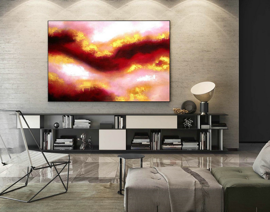 Abstract Painting on Canvas - Extra Large Wall Art, Contemporary Art, Original Oversize Painting LaS313