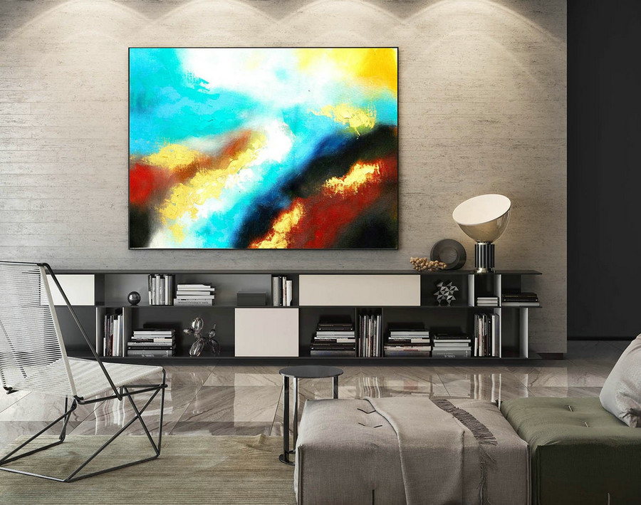 Contemporary Wall Art - Abstract Painting on Canvas, Original Oversize Painting, Extra Large Wall Art LaS320