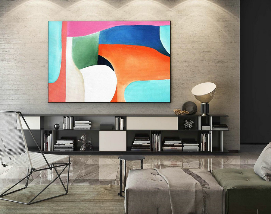 Abstract Canvas Art - Large Painting on Canvas, Contemporary Wall Art, Original Oversize Painting LaS350