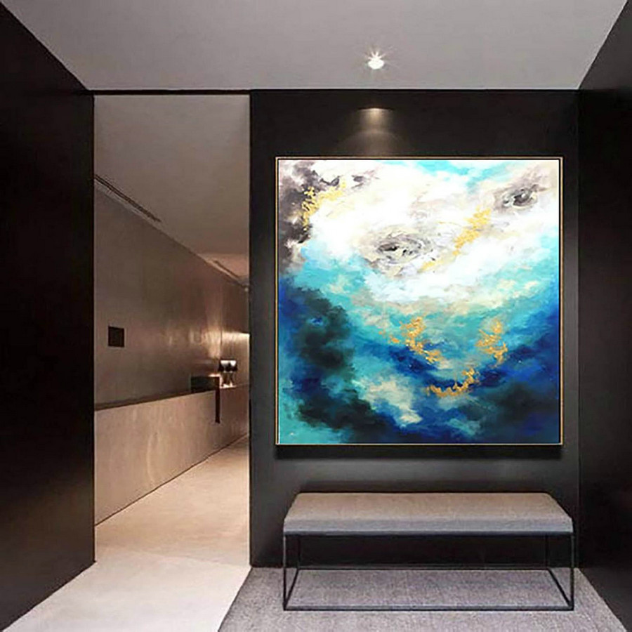 Contemporary Wall Art - Abstract Painting on Canvas, Original Oversize Painting, Extra Large Wall Art LaS364