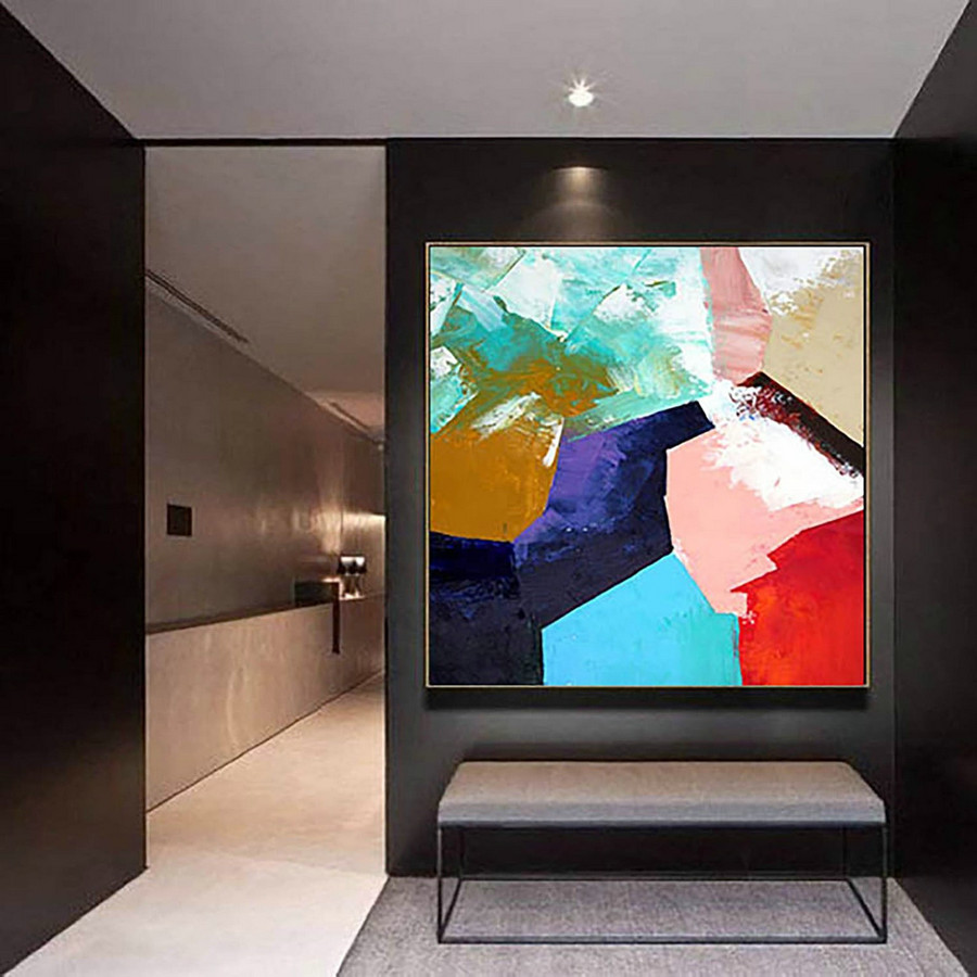 Abstract Painting on Canvas - Extra Large Wall Art, Contemporary Art, Original Oversize Painting LaS413