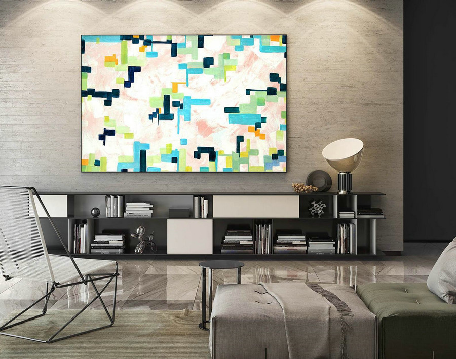 Large Canvas Art - Abstract Painting on Canvas, Contemporary Wall Art, Original Oversize Painting LaS467