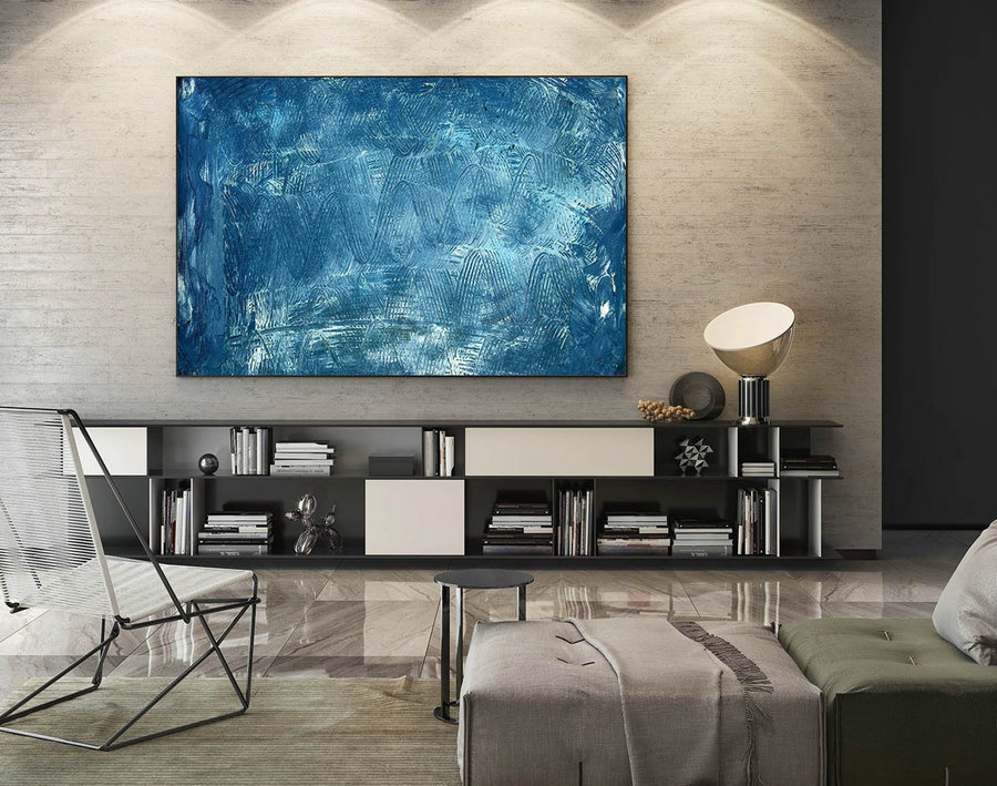 Abstract Painting on Canvas - Extra Large Wall Art, Contemporary Art, Original Oversize Painting LaS487