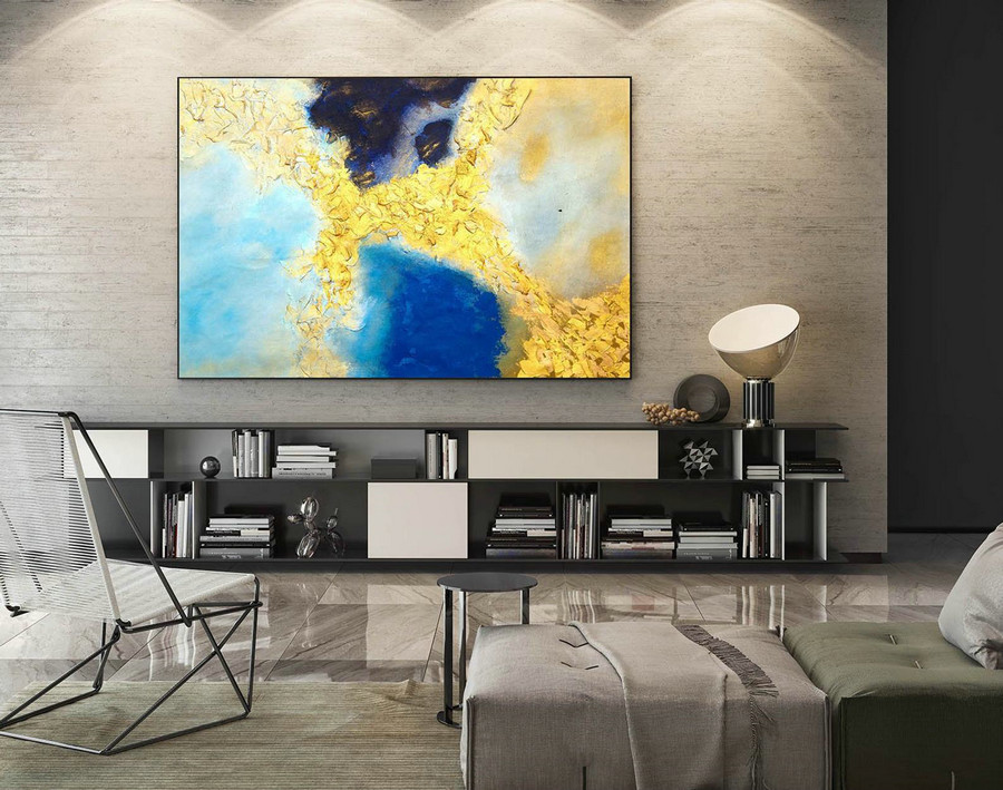 Abstract Canvas Art - Large Painting on Canvas, Contemporary Wall Art, Original Oversize Painting LaS537