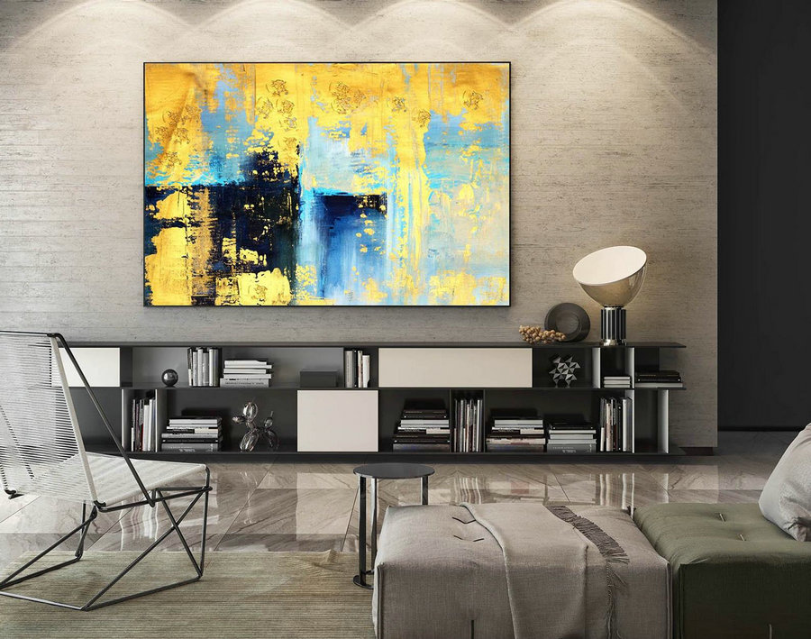 Abstract Canvas Art - Large Painting on Canvas, Contemporary Wall Art, Original Oversize Painting LaS564