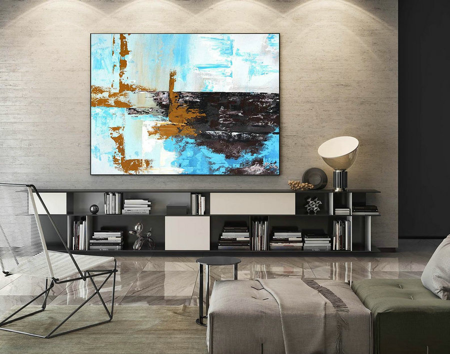 Abstract Canvas Art - Large Painting on Canvas, Contemporary Wall Art, Original Oversize Painting LaS409