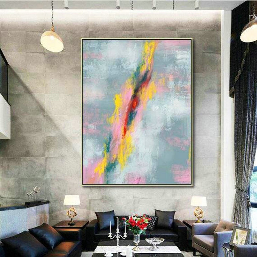 Abstract Canvas Art - Large Painting on Canvas, Contemporary Wall Art, Original Oversize Painting MaS001