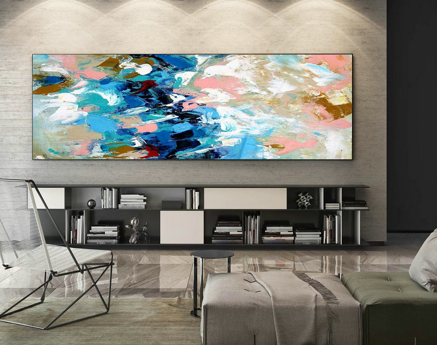 Abstract Painting on Canvas - Extra Large Wall Art, Contemporary Art, Original Oversize Painting XaS429