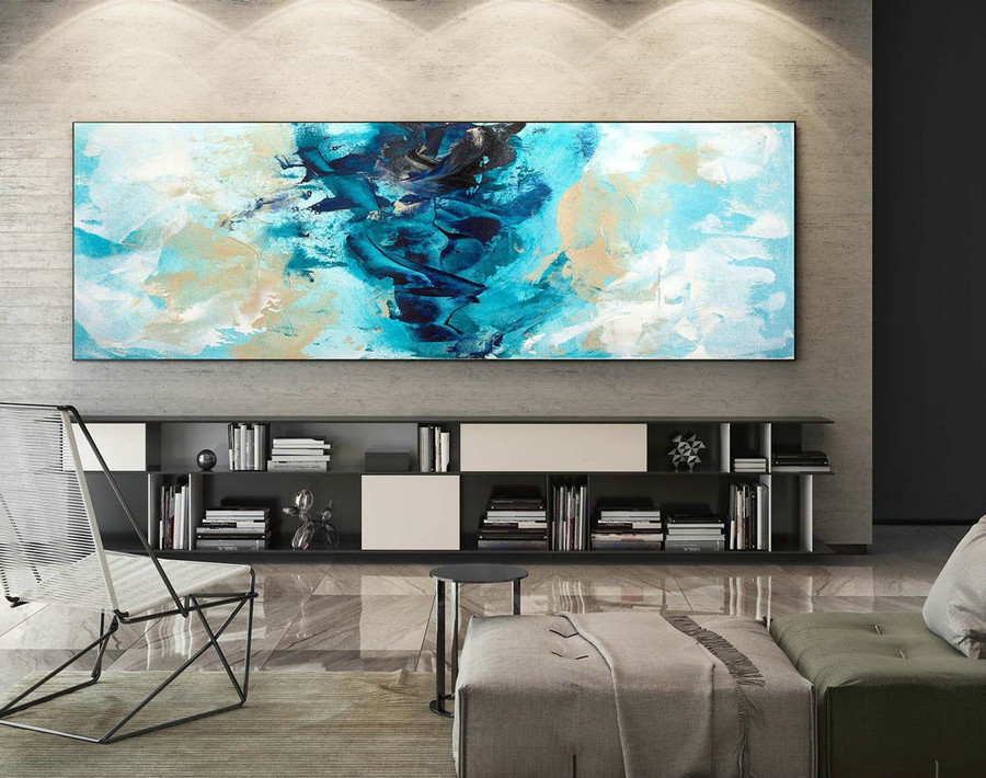 Abstract Canvas Art - Large Painting on Canvas, Contemporary Wall Art, Original Oversize Painting XaS234