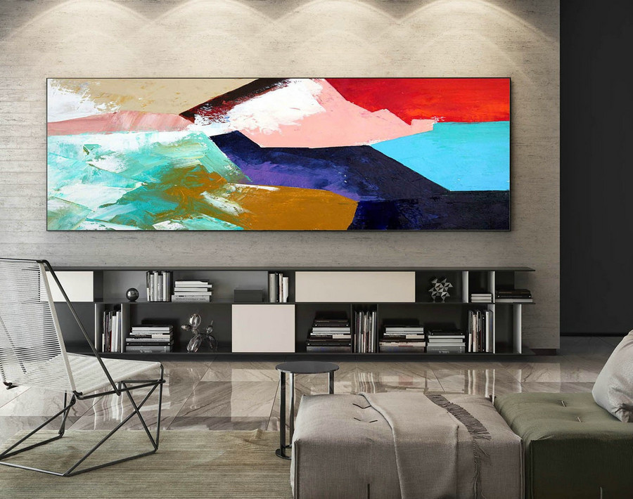 Abstract Canvas Art - Large Painting on Canvas, Contemporary Wall Art, Original Oversize Painting XaS413