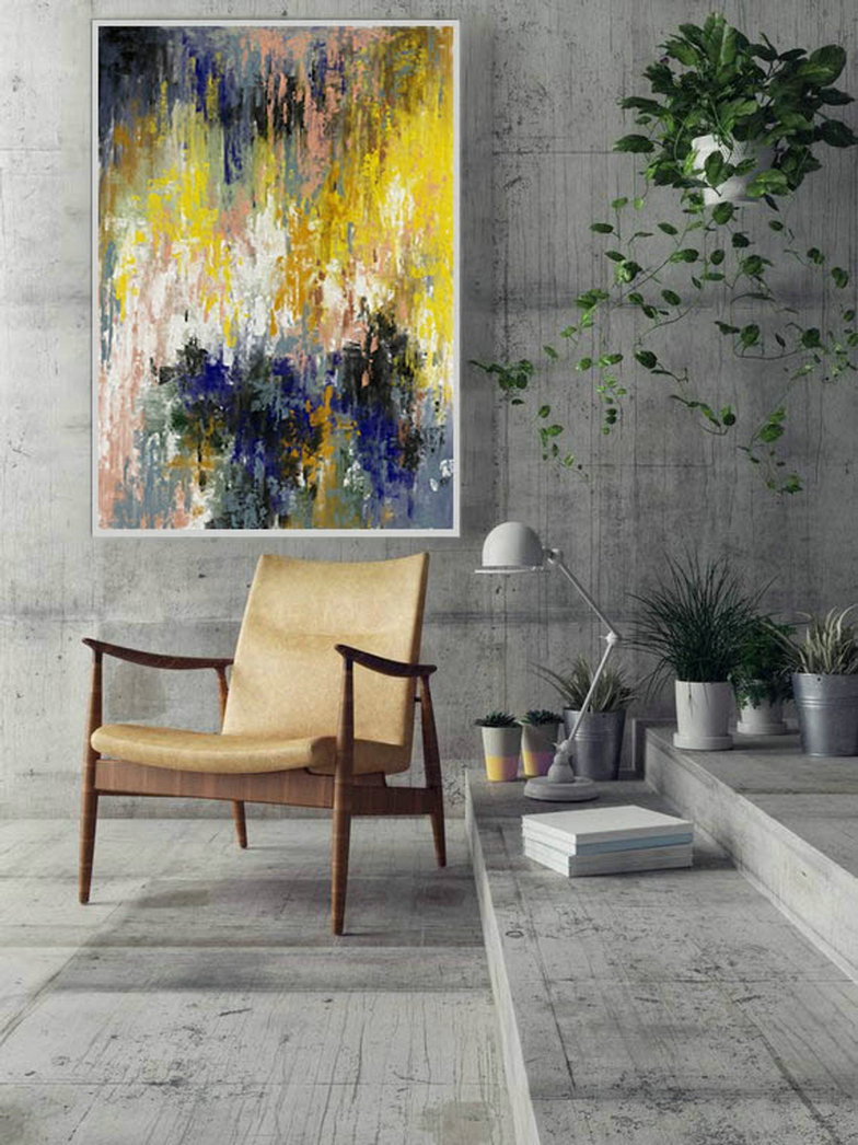 LargeWall Art Original Abstract Painting for Decor Contemporary Wall Art Modern Art Extra Large Original Abstract Painting on Canvas CHS057