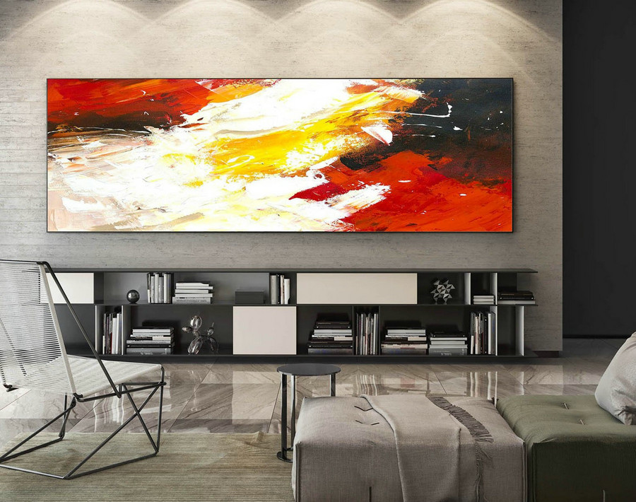 Abstract Painting on Canvas - Extra Large Wall Art, Contemporary Art, Original Oversize Painting XaS199