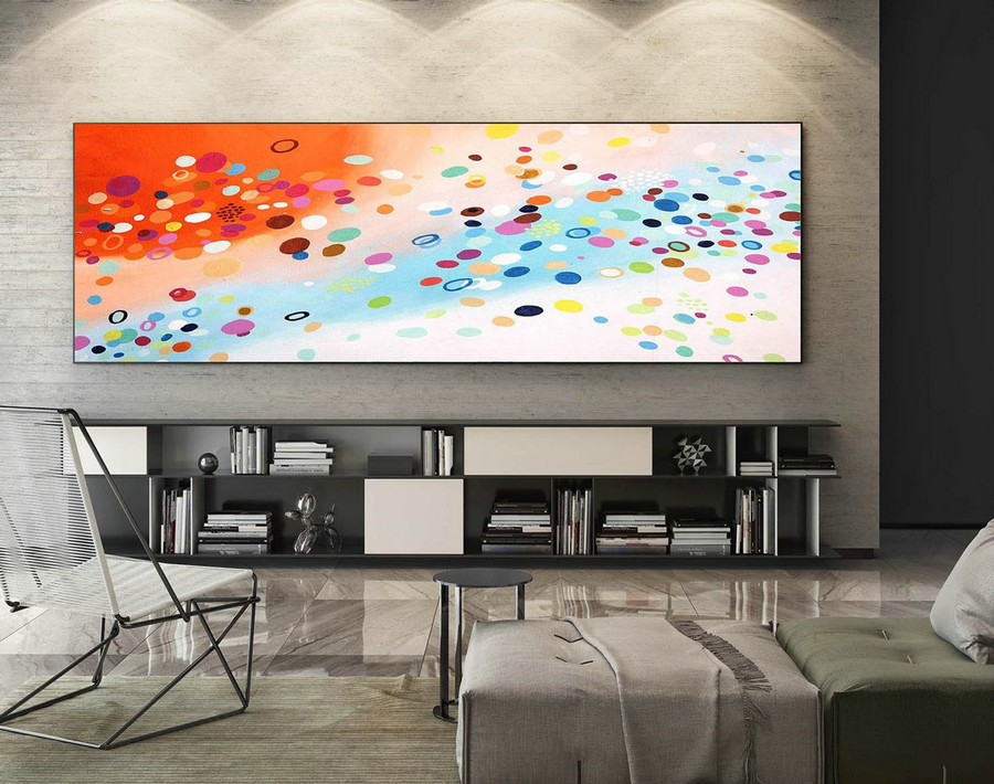 Abstract Canvas Art - Large Painting on Canvas, Contemporary Wall Art, Original Oversize Painting XaS411