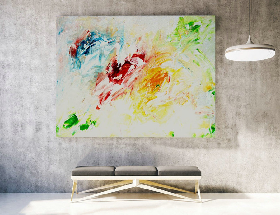 Abstract Painting on Canvas - Extra Large Wall Art, Contemporary Art, Original Oversize Painting LAS016