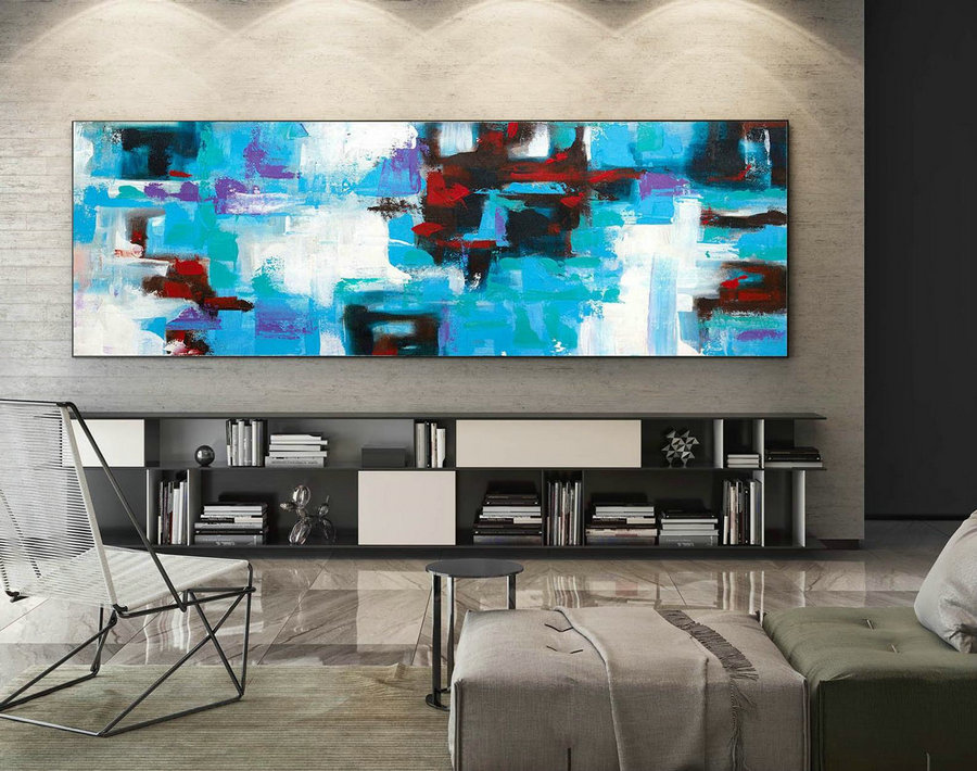 Abstract Painting on Canvas - Extra Large Wall Art, Contemporary Art, Original Oversize Painting XaS101