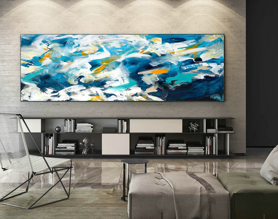 Abstract Painting on Canvas - Extra Large Wall Art, Contemporary Art, Original Oversize Painting XaS005