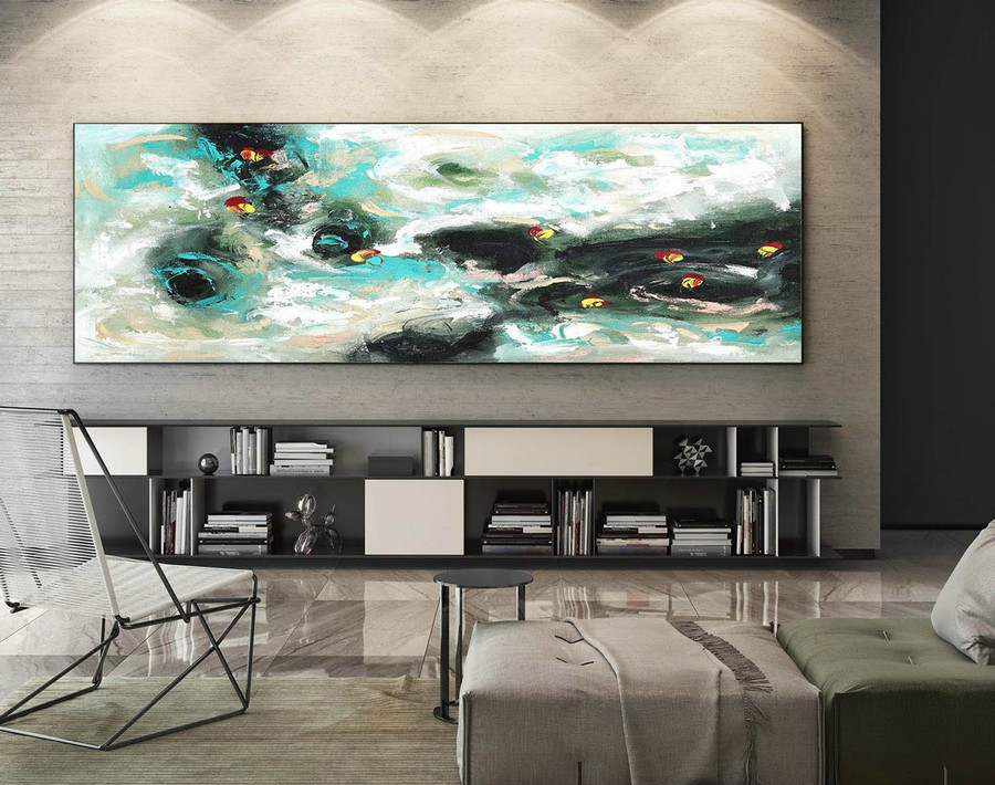 Abstract Canvas Art - Large Painting on Canvas, Contemporary Wall Art, Original Oversize Painting XaS419