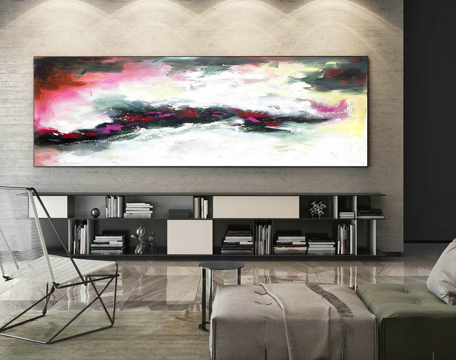 Abstract Painting on Canvas - Extra Large Wall Art, Contemporary Art, Original Oversize Painting XaS188