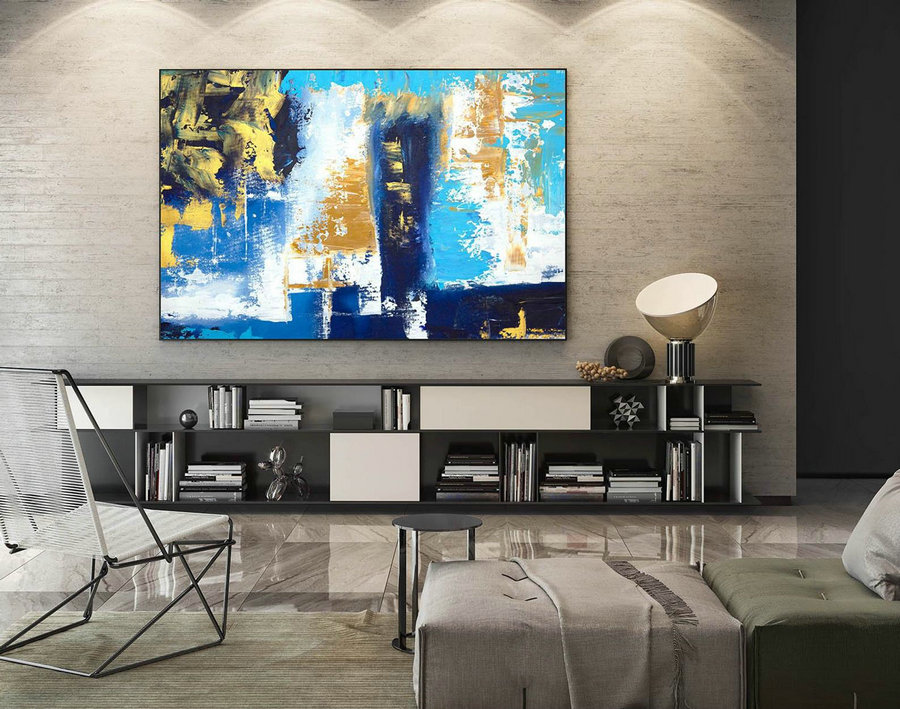 Contemporary Wall Art - Abstract Painting on Canvas, Original Oversize Painting, Extra Large Wall Art LaS576