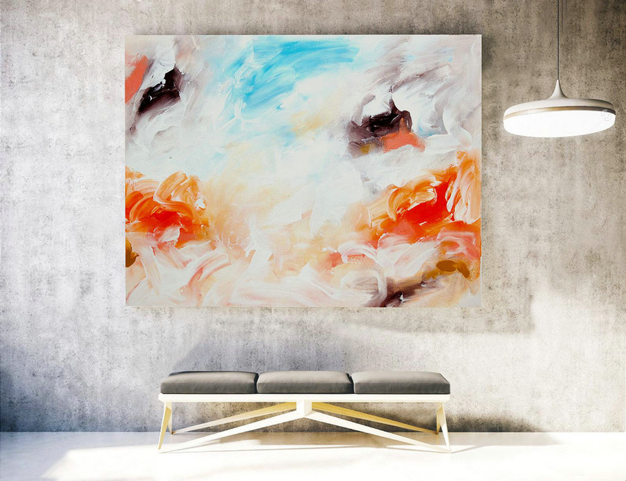 Large Contemporary Art, Original Large Abstract Painting, Large Abstract Wall Art, Large Abstract Painting,Original Modern Abstract. LAS047